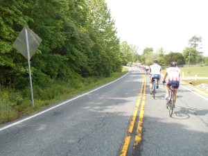 Riders of Ride 2 Recovery move through the the 62 mile trek from Fredericksburg, Virginia to Glen Allen, Virginia.