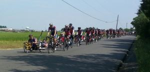 Photo Courtesy of Katie Martyn Delco Ride 2 Recovery rolling through Bristow on the way out of Manassas May 27.